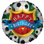"HAPPY BIRTHDAY FOOTBALL BALLOON  18""  15170-18"